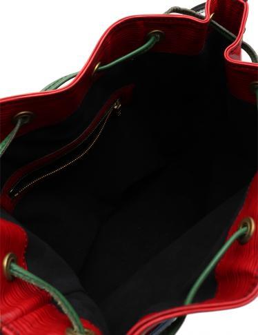 LOUIS VUITTON・バッグ・ノエ エピ ショルダーバッグ レザー 赤 青 緑 トリコロール