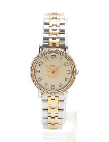 new product 1ff14 beb88 HERMES(エルメス)セリエ 腕時計 レディース クオーツ SS GP シルバー ゴールド|中古ブランドコピー通販のブランドスーパーコピー