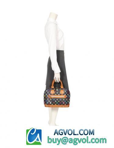 LOUIS VUITTON・バッグ・アルマ モノグラムマルチカラー ハンドバッグ PVC レザー ノワール
