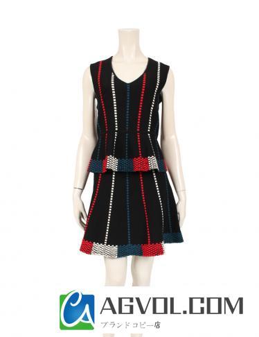 BCBG MAXAZRIA・スーツ・LAURE QUEENY スカートセットアップ 黒 マルチカラー