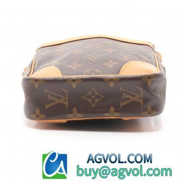 LOUIS VUITTON・バッグ・ダヌーブ モノグラム ショルダーバッグ PVC レザー 茶色
