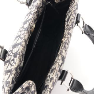 Christian Dior・バッグ・トロッター ハンドバッグ キャンバス レザー ネイビー ライトグレー