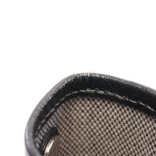 HERMES・バッグ・ガーデンパーティ PM トートバッグ トワルアッシュ レザー ライトグレー ブラック □H刻印