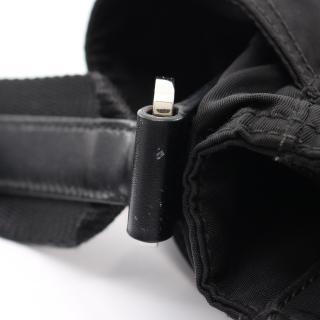 PRADA・バッグ・ ショルダーバッグ ナイロン レザー ブラック 三角プレート