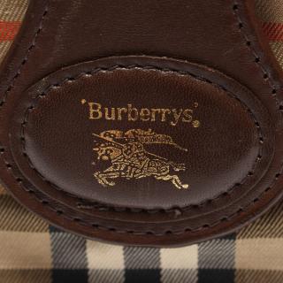 Burberry's・バッグ・ヘイマーケットチェック ショルダーバッグ キャンバス レザー ベージュ マルチカラー