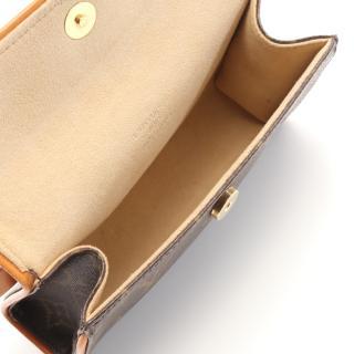LOUIS VUITTON・バッグ・ポシェットフロランティーヌ モノグラム ボディバッグ ウエストバッグ PVC レザー ブラウン ブトンプレッション(XS)付き