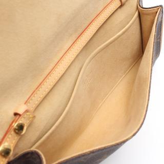 LOUIS VUITTON・バッグ・ポシェットツインGM モノグラム ショルダーバッグ PVC レザー ブラウン