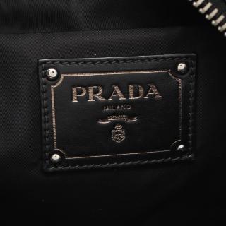 PRADA・バッグ・TESSUTO ハンドバッグ トートバッグ ナイロン レザー ブラック 2WAY