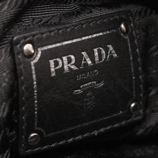 PRADA・バッグ・SOFT CALF ワンショルダーバッグ レザー ブラック