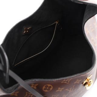 LOUIS VUITTON・バッグ・フラワー ホーボー モノグラム ショルダーバッグ PVC レザー ブラウン ブラック