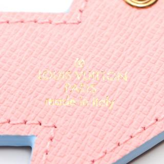 LOUIS VUITTON・財布・小物・ポルトクレ サマーフィール バッグチャーム キーホルダー レザー ブラック マルチカラー アイスクリーム