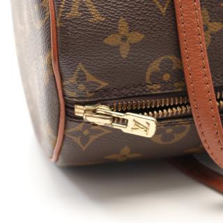 LOUIS VUITTON・バッグ・パピヨン26 モノグラム 旧型 ハンドバッグ PVC レザー ブラウン