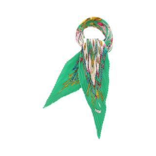 HERMES・財布・小物・カレプリセ 「Petite main」 スカーフ シルク グリーン ホワイト マルチカラー