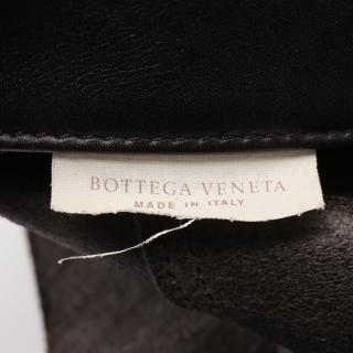 BOTTEGA VENETA・バッグ・イントレッチオ ミラージュ ハンドバッグ トートバッグ レザー ダークブラウン チャーム付き