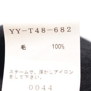 Y's・ボトムス・ サルエルパンツ タイダイ ウール ブラック レッド