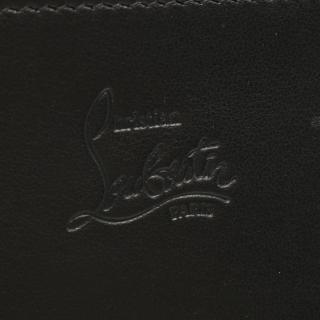 Christian Louboutin・財布・小物・W MACARON 二つ折り長財布 カーフレザー ブラック スパイクスタッズ