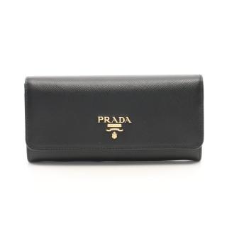 PRADA・財布・小物・SAFFIANO METAL 二つ折り長財布 サフィアーノレザー ブラック