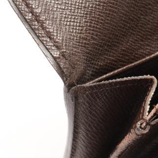 LOUIS VUITTON・財布・小物・ポルトフォイユ システィナ ダミエエベヌ 二つ折り長財布 PVC レザー ブラウン