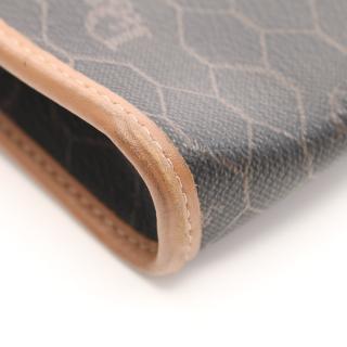 Christian Dior・バッグ・ ショルダーバッグ ハニカム柄 PVC レザー ダークグレー ブラウン